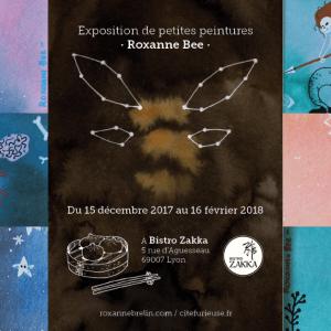 Exposition Roxanne Brelin Roxanne Bee Lyon Bistro Zakka Petite Peinture aquarelle gouache Lyon bao guabao time bao street food